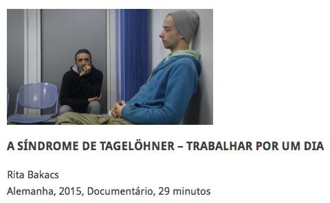 TAGELÖHNER SYNDROM goes South America! A SÍNDROME DE TAGELÖHNER at Festival Cine Talca, Chile in April and at Mostra CineTrabalho in São Paulo, ...
